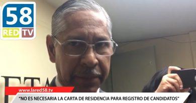 AFIRMA INE NO ES NECESARIA LA CARTA DE RESIDENCIA PARA EL REGISTRO DE CANDIDATOS.