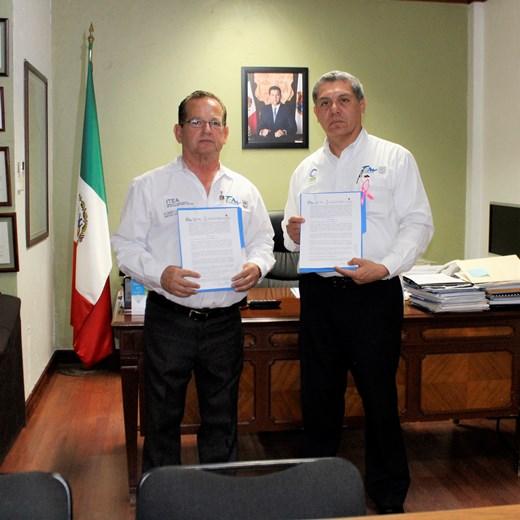 Firman convenio interinstitucional ITEA y COBAT