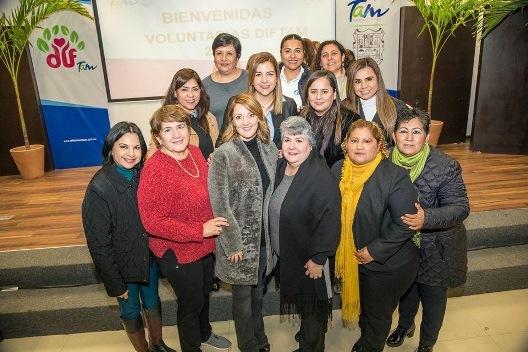Mariana Gómez agradece labor del voluntariado del DIF Tamaulipas