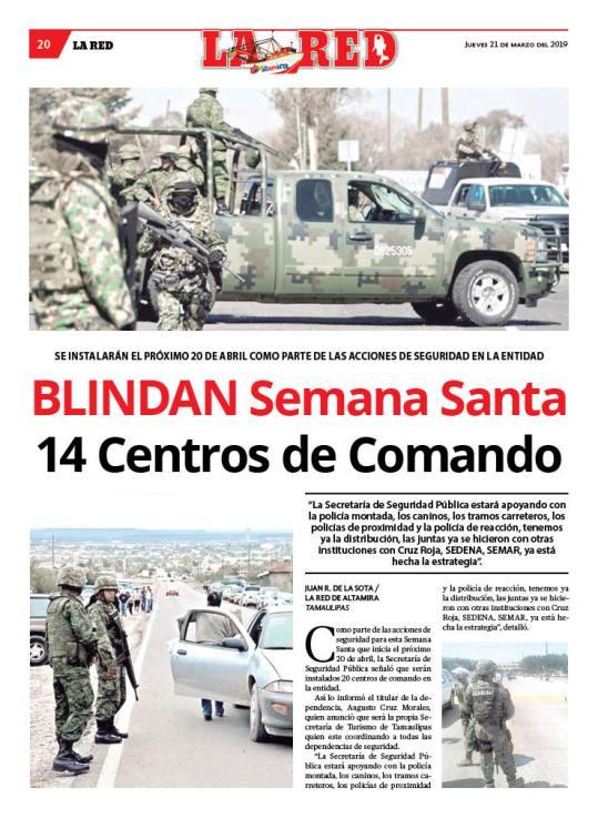 BLINDAN Semana Santa 14 Centros de Comando
