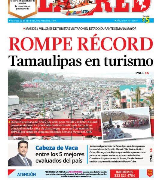 ROMPE RÉCORD Tamaulipas en turismo
