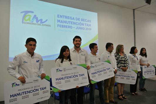 """Alumnos UPV beneficiados con Beca """"Manutención Tam"""""""
