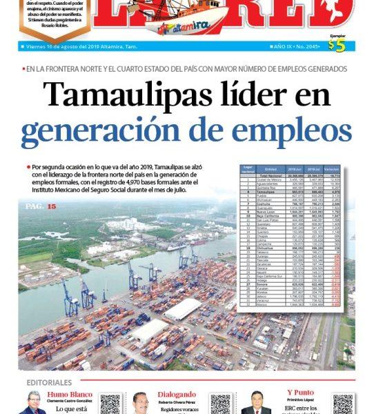 Tamaulipas líder en generación de empleos