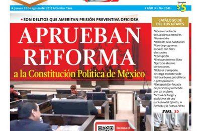 APRUEBAN REFORMA a la Constitución Política de México