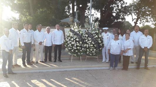 Gobierno de Madero monta guardia en honor a Miguel Hidalgo