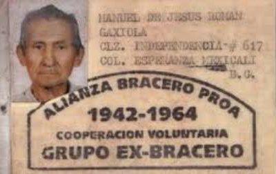 """""""Ex braceros"""" mexicanos pueden recibir pensión de EU"""