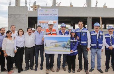 Supervisa alcalde Enrique Rivas secundaria en construcción