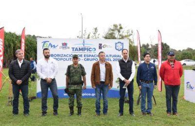Arborizan en Tampico terrenos del Metro