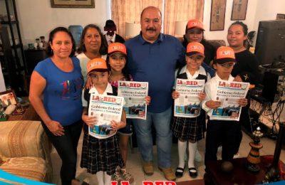 """Alumnos de primaria """"Manuel Castellanos"""" visitan el periódico La Red de Altamira"""