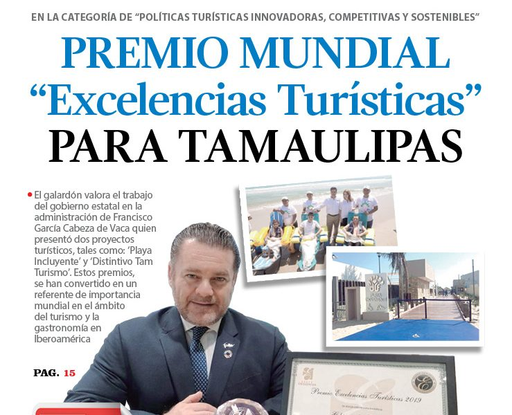 "Premio mundial ""Excelencias Turísticas"" para Tamaulipas"