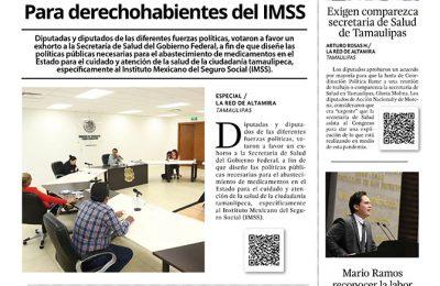 Piden diputados más medicinas para  derechohabientes del IMSS