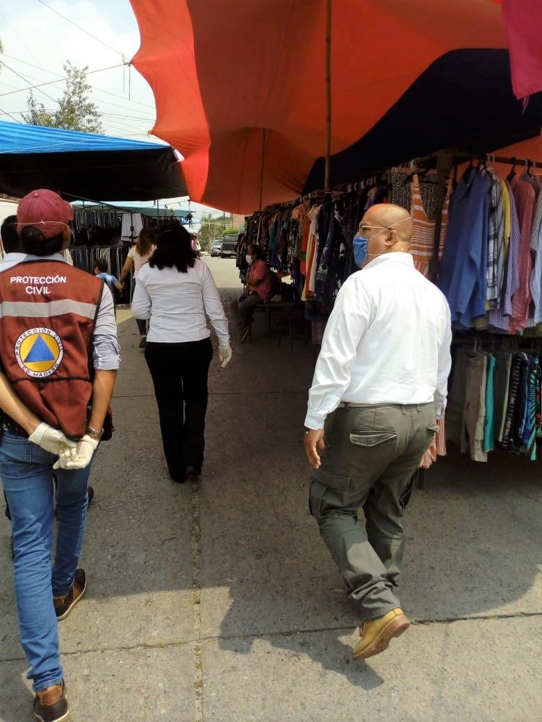 Supervisan que oferentes de Madero cumplan con medidas sanitarias