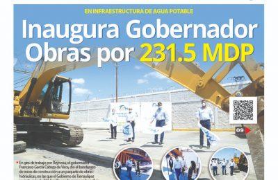 Inaugura gobernador obras por 231.5 millones de pesos