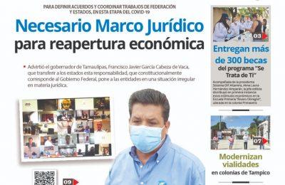 Necesario Marco Jurídico para reapertura económica